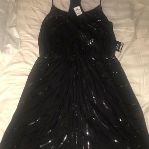 Express Dresses - Express Black Deco Sequin Embellished Dress